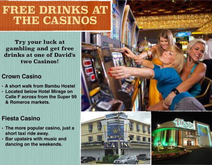 Casinos David Panama, free drinks, David Panama Chiriqui